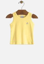 UP Baby - Baby girls tank top - yellow