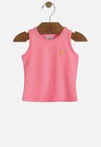 UP Baby - Girls basic tank top - pink