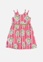 Quimby - Girls sunflower dress - pink