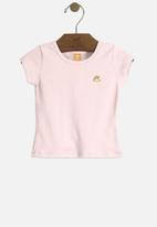 UP Baby - Baby girls basic tee - pink