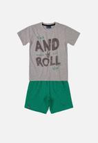 Quimby - Boys printed tee & shorts set - grey