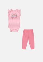 Quimby - Bodysuit & pants set - pink