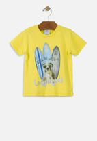 UP Baby - Boys surfer tee - yellow