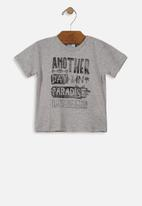 UP Baby - Baby boys printed tee - grey