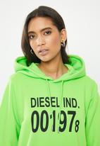 Diesel  - F-ang hooded sweatshirt - green