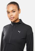 PUMA - Ignite 1/4 zip jacket - black