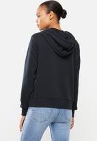 PUMA - Classics logo hoody - black & sliver