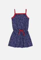 Bee Loop - Printed dress - blue & red