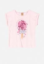UP Baby - Printed blouse - pink