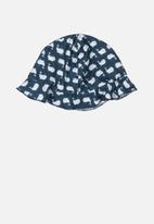 UP Baby - Printed beach hat - navy & white