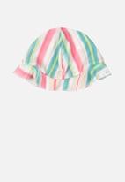 UP Baby - Girls striped beach hat - multi