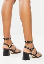 Public Desire - Always low block heel - black