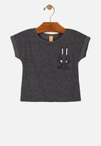 UP Baby - Girls short sleeve tee - dark grey