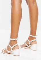 Public Desire - Always low block heel - white