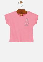 UP Baby - Girls short sleeve tee - pink