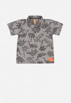 UP Baby - Boys polo shirt - grey