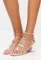 Public Desire - Always low block heel - iridescent