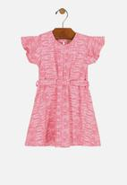UP Baby - Girls jacquard dress - pink