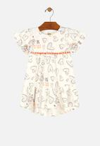 UP Baby - Printed dress - off white