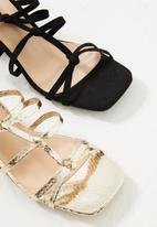 Public Desire - Zizi low block heel - black