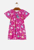 UP Baby - Girls printed dress - pink