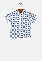 UP Baby - Boys woven shirt - white & blue