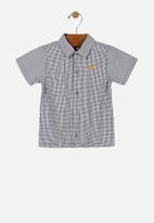 UP Baby - Boys woven shirt - black & white