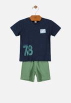 UP Baby - Boys tank top & shorts set - navy & green