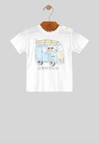 UP Baby - Baby boys printed tee - white