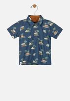 UP Baby - Boys printed shirt - blue