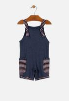UP Baby - Boys overall - blue & brown