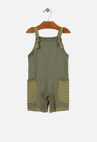 UP Baby - Boys overall - green & yellow
