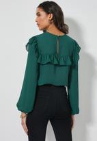 Superbalist - Femme ruffle blouse - emerald green