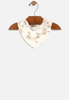 UP Baby - Girls double face bib - off white & brown