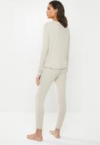 Superbalist - Sleep top & pants set - stone melange