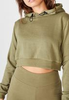 Factorie - Classic crop hoodie - washed khaki