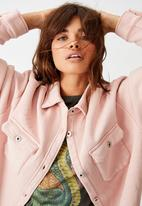 Factorie - Fleece shacket - washed coral pink