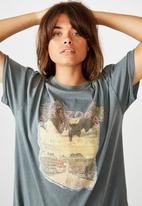 Factorie - Oversized graphic tee arizona eagle - washed grey