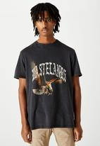 Factorie - Regular graphic T-shirt wastelands - washed black