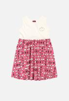 Bee Loop - Girls heart print dress - multi
