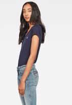 G-Star RAW - Eyben slim v-neck short sleeve tee -  blue