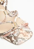 Public Desire - Arabella block heel - brown & pink