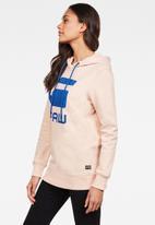 G-Star RAW - Boyfriend raw hoodie - pink