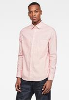 G-Star RAW - Dowl straight long sleeve shirt - pink