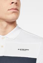 G-Star RAW - Cut & sewn GR slim fit polo - white