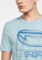G-Star RAW - Perspective logo gr slim fit tee - blue