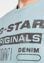G-Star RAW - Originals water gr tee - blue
