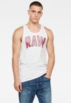 G-Star RAW - Multi layer raw GR tank - white