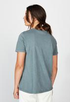 Factorie - Relaxed graphic T-shirt dragon motorcycle - washed grey
