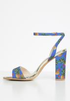 Miss Black - Dela heel - blue